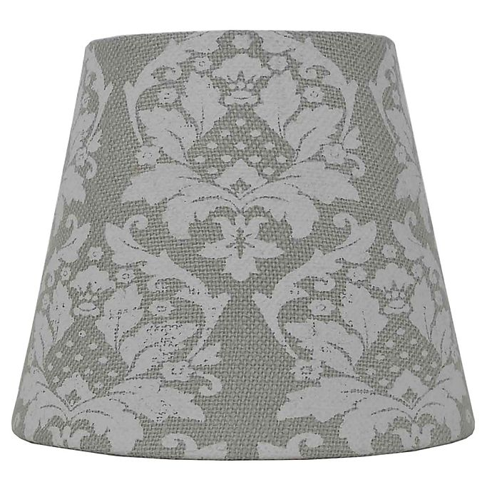 Alternate image 1 for Mix & Match Small Damask Lamp Shade in Green
