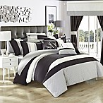 Chic Home Placido 24-Piece King Comforter Set in Black