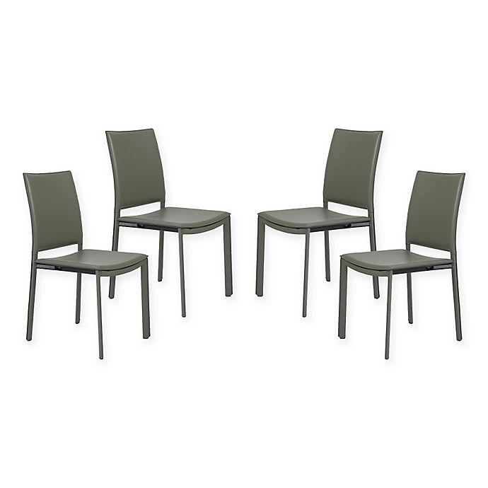Alternate image 1 for Eurostyle™ Kate Dining Chairs in Grey (Set of 4)