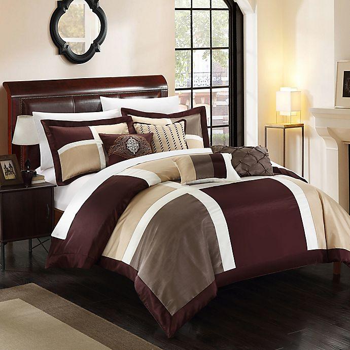 Alternate image 1 for Chic Home Calinda 11-Piece King Comforter Set in Brown