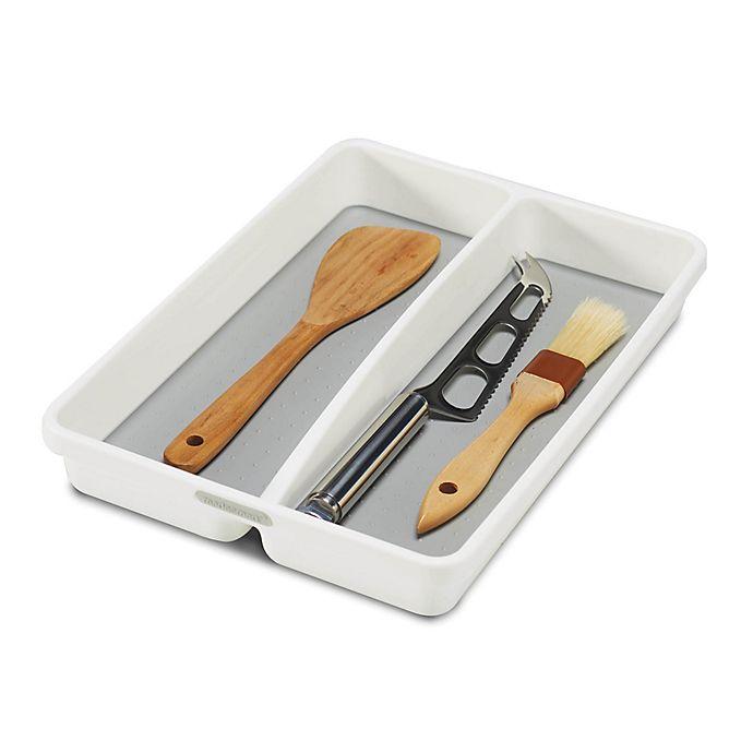 Alternate image 1 for madesmart® Classic Mini Utensil Tray in White/Grey