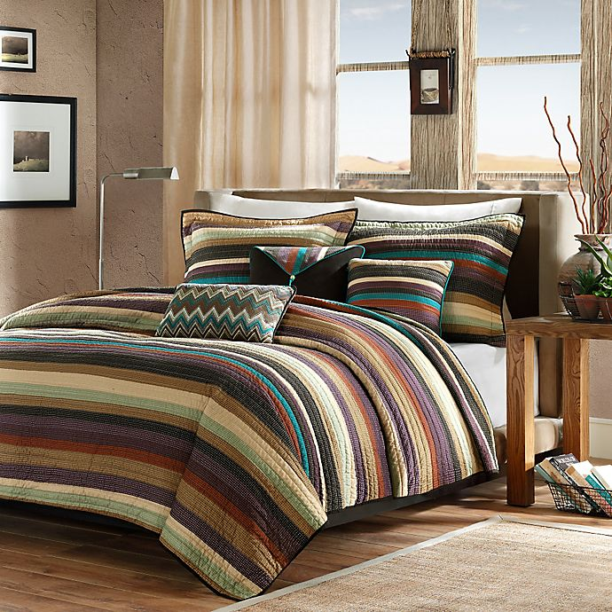 Alternate image 1 for Madison Park Yosemite 5-Piece Twin/Twin XL Coverlet Set in Brown