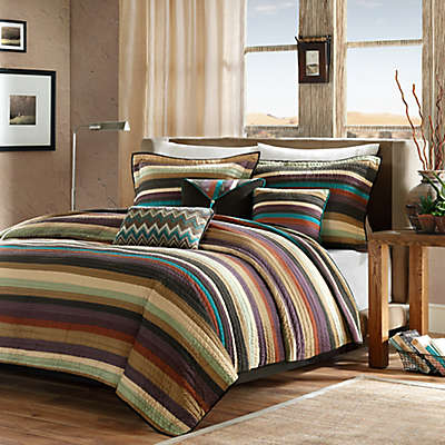 Madison Park Yosemite 5-Piece Twin/Twin XL Coverlet Set in Brown