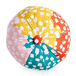 Scribble 16-Inch Round Beach Ball Pillow Cover in Pink/Multicolor