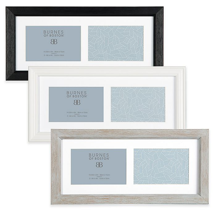 Alternate image 1 for Burnes of Boston Basic 2-Photo 4-Inch x 6-Inch Collage Frame