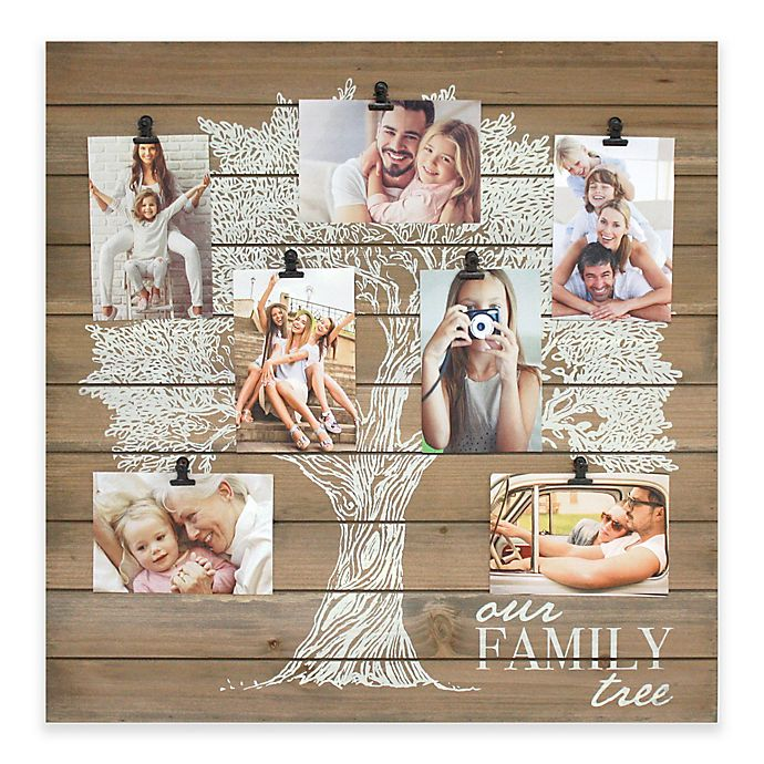 Alternate image 1 for Fetco Home Decor™ Our Family Tree 7-Photo 5-Inch x 7-Inch Collage Frame in White