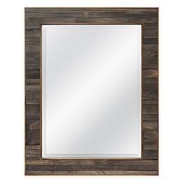 Walnut Plank 23.5-Inch x 29.5-Inch Rectangular Mirror in Brown