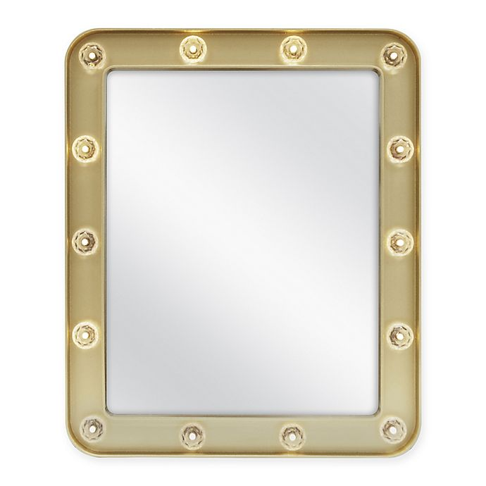 Alternate image 1 for Mini Marquee 10-Inch x 13-Inch Rectangular Mirror in Gold