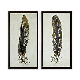 Urban Habitat® Gilded Feathers Printed Canvas Wall Art (Set of 2)