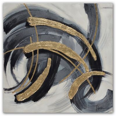 Grander Images Black And Gold Canvas Wall Art Bed Bath Beyond