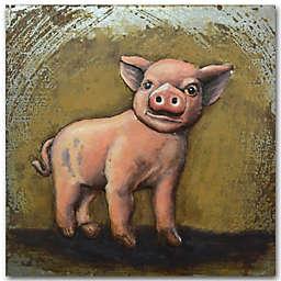 Grander Images This Little Piggy Metal Wall Art