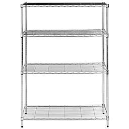 Safavieh Delta 4-Tier Chrome Wire Rack