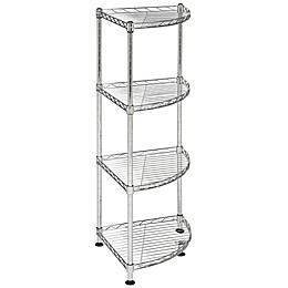 Safavieh Damaris 4-Tier Chrome Wire Corner Rack in Chrome