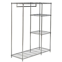 Safavieh Betsy Chrome Wire Adjustable Garment Rack in Chrome
