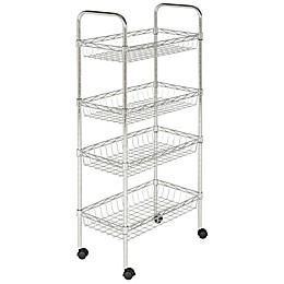 Safavieh Pierre Chrome Wire Adjustable Mini Trolley in Chrome
