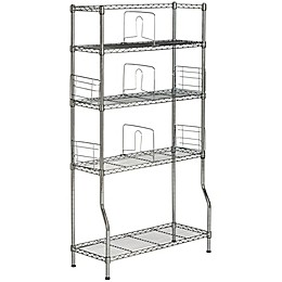 Safavieh Fernand Chrome Wire Book Rack in Chrome