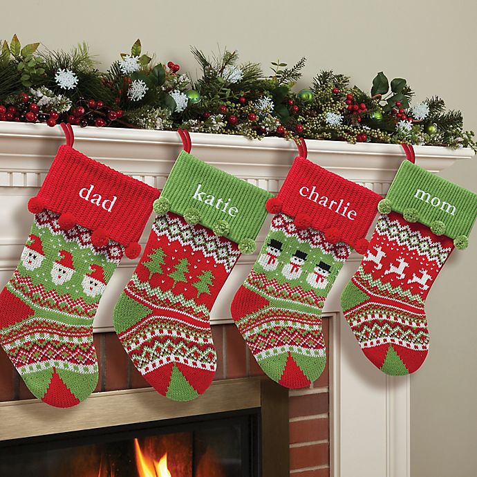 Alternate image 1 for Knit 20-Inch Christmas Stocking Collection