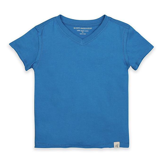 Alternate image 1 for Burt's Bees Baby® Shirt in Blue