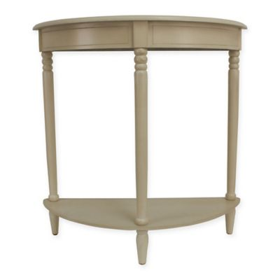 jimco half round accent table in white bed bath beyond. Black Bedroom Furniture Sets. Home Design Ideas