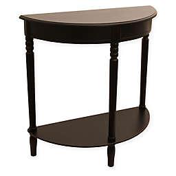 Jimco Half Round Accent Table in Black