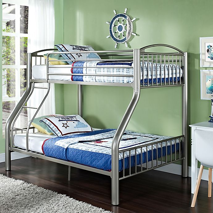 Powell White Twin Bedroom In A Box: Powell Twin/Full Bunk Bed In Pewter