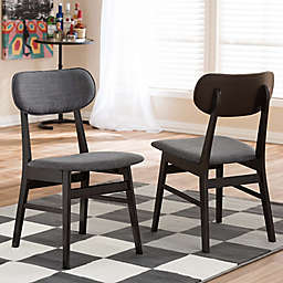 Baxton Studio Debbie Chairs in Brown (Set of 2)