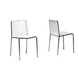 Baxton Studio Gridley Dining Chairs in White (Set of 2)