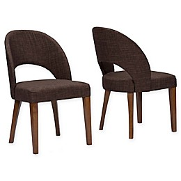 Baxton Studio Lucas Dining Chair in Brown (Set of 2)