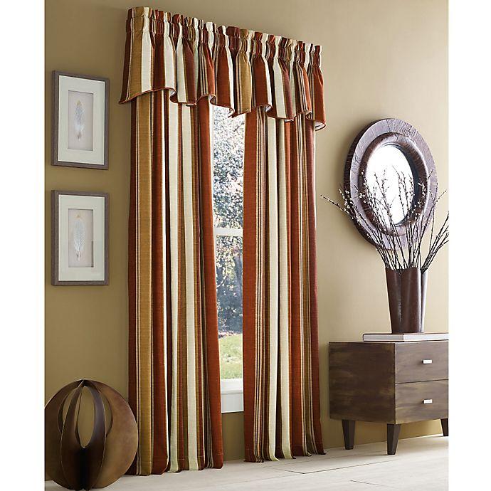 Alternate image 1 for J. Queen New York™ Valdosta Stripe Rod Pocket Window Curtain Panel