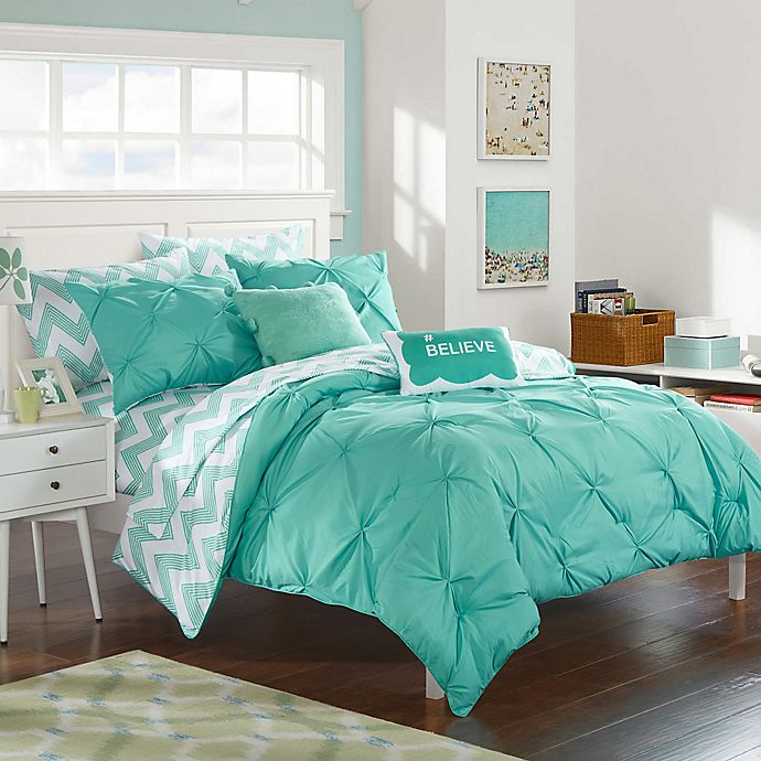 Alternate image 1 for Chic Home Parkerville 7-Piece Twin XL Comforter Set in Aqua