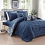 Chic Home Isobelle 10-Piece King Comforter Set in Navy