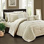 Chic Home Isobelle 10-Piece Queen Comforter Set in Beige