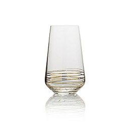 Mikasa® Electric Boulevard Highball Glasses in Gold (Set of 4)