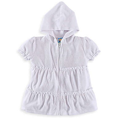 Baby Buns Ruffle Cover-Up in White