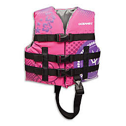AquaLeisure® Oceans 7 Youth Personal Flotation Device in Raspberry