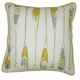 KAS Seneca Oar 18-Inch Square Throw Pillow in Yellow