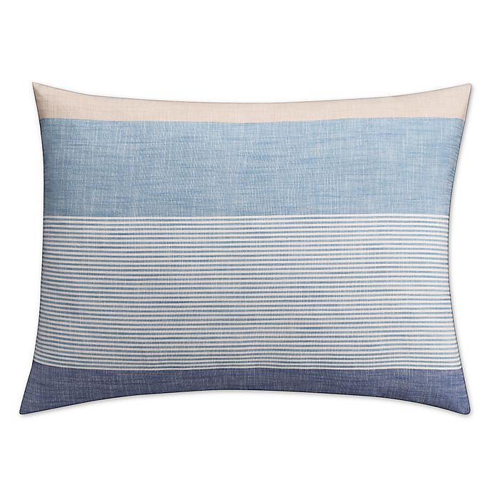 Alternate image 1 for KAS Seneca Standard Pillow Sham in Blue
