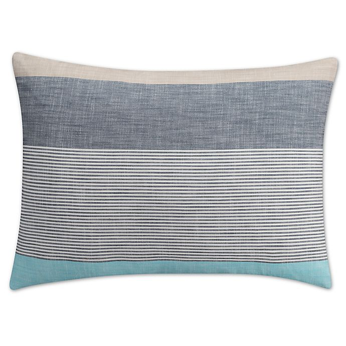 Alternate image 1 for KAS Seneca King Pillow Sham in Aqua