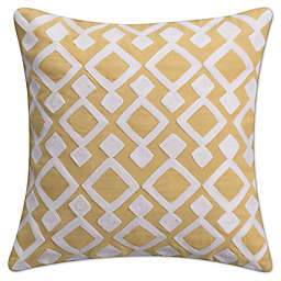 KAS Seneca 16-Inch Twill Tape Throw Pillow