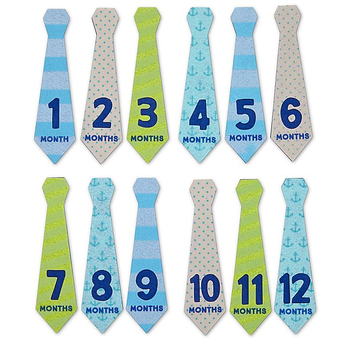 Alternate image 1 for Baby's First Year Felt Tie Stickers (Set of 12)