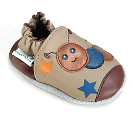 Momo Baby Caterpillar Leather Soft Sole Shoe in Taupe