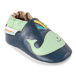 Momo Baby A Whale of a Time Leather Soft Sole Shoe in Navy