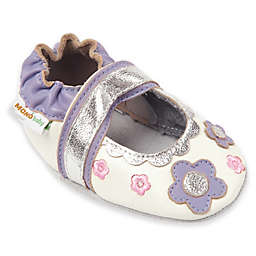 Momo Baby Flower Lace Mary Janes in White