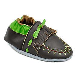 MomoBaby Moccasin Leather Soft Sole Shoe in Brown