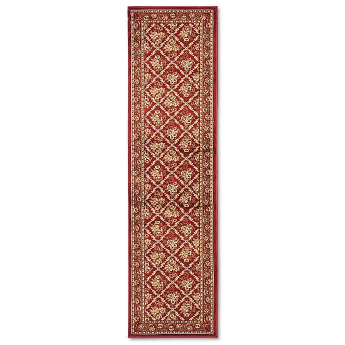 Alternate image 1 for Safavieh Lyndhurst Collection Courtland 2-Foot 3-Inch x 12-Foot Runner in Red