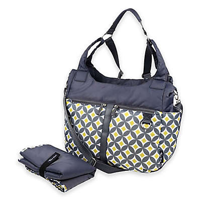 Thea Thea Kira 3-Way Diaper Bag in Gray/Yellow