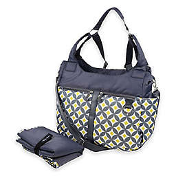 Thea Thea Kira 3-Way Diaper Bag in Gray/Yellow