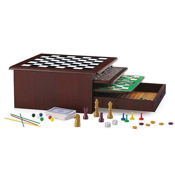 Alternate image 1 for 12-in-1 Wood Game Center