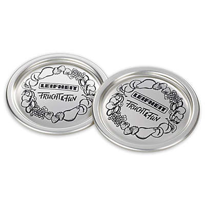Leifheit Classic Wide Mouth Canning Jar Sealing Lids in Silver (Set of 12)
