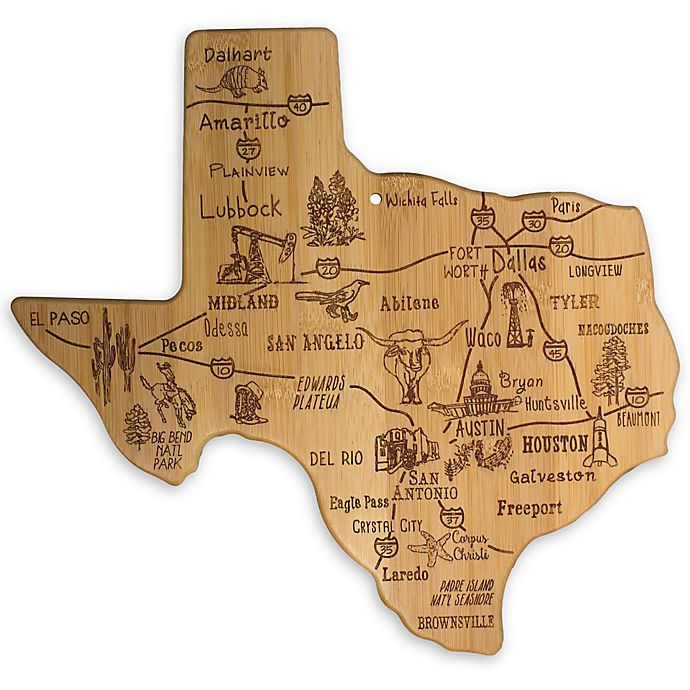 Alternate image 1 for Totally Bamboo® Texas Destination Cutting/Serving Board
